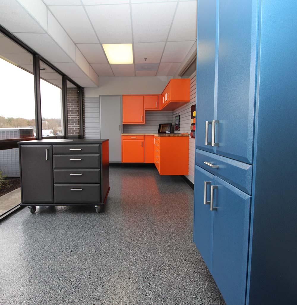 Designer Orange Cabinets
